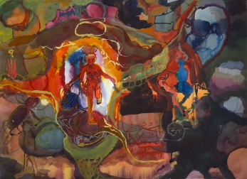Active, akvarelli 2006, 65x78