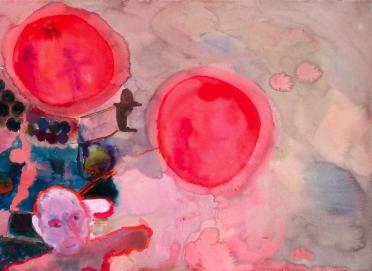 Birdy, akvarelli 2006, 65x78