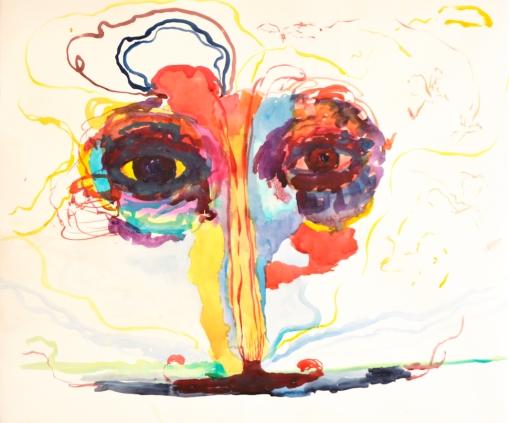 Caramel, akvarelli 2018, 65x76