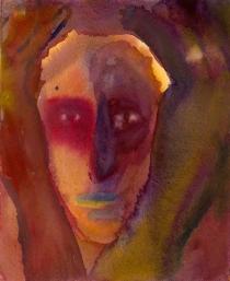 Häpeä, akvarelli 2004, 30x40