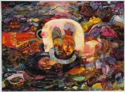 Halo, akvarelli 2006, 85x105