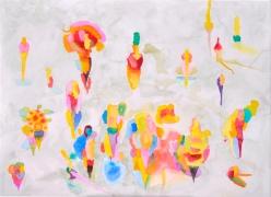 Kenttä, akvarelli 2018, 105x120
