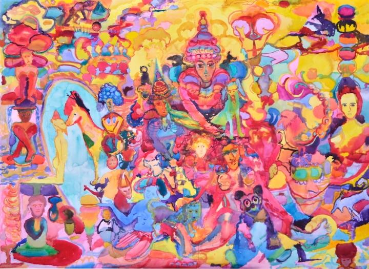 La Lupe, akvarelli 2018, 80x108