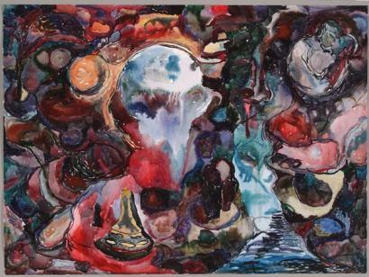 Lelu, akvarelli 2006, 110x130