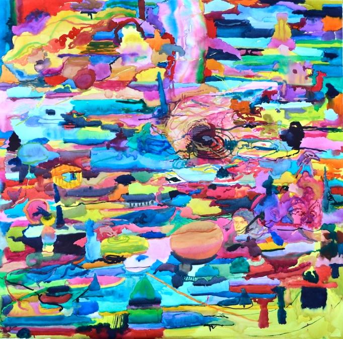 Mizumi, akvarelli 2018, 120x128