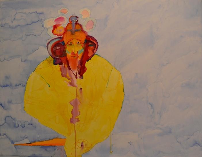 Nuori peluri, akvarelli 2018, 120x130