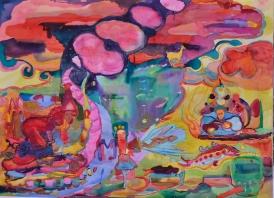 Sompra, akvarelli 2018, 85x110