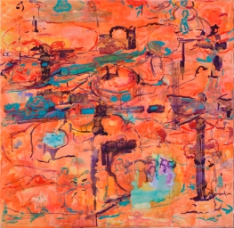 Toden, akvarelli 2018, 120x130