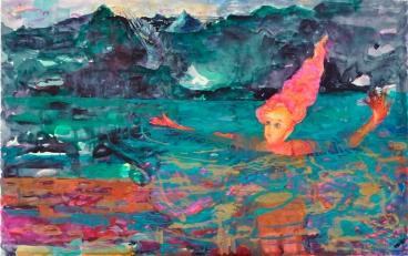 Tuulen nimi, akvarelli 2018, 60x120